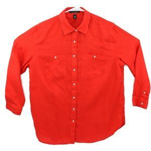 LAUREN Ralph Lauren Women's Long Sleeve Red/Orange
